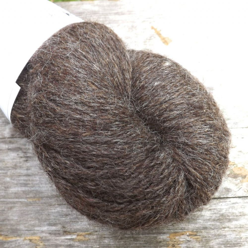 Ullcentrum Solids 3-ply -  Natural Brown